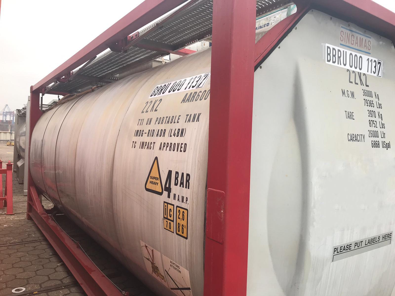 Купить танк-контейнер T11 (BBRU 0001137) — 25 982 литров
